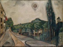 Max Beckmann, Paesaggio con mongolfiera | Landschaft mit Luftballon