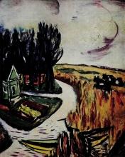 Max Beckmann, Paesaggio con mucche   Landschaft mit Kühen   Landscape with cows