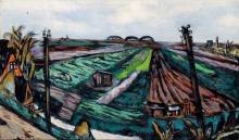 Max Beckmann, Paesaggio di polder con Hembrug | Polderlandschaft mit Hembrug