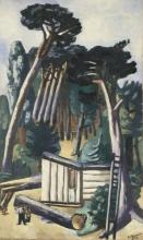 Max Beckmann, Paesaggio forestale con taglialegna   Waldlandschaft mit Holzfäller   Paysage forestier avec bucherons