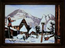 Max Beckmann, Paesaggio innevato a Garmisch | Schneelandschaft Garmisch