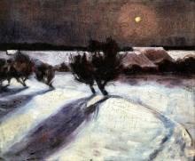 Max Beckmann, Paesaggio innevato al chiaro di luna | Snow landscape in the moonlight