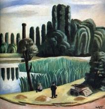 Max Beckmann, Paesaggio lacustre con pioppi | Seelandschaft mit Pappeln | Lake landscape with poplars