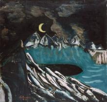 Max Beckmann, Paesaggio lunare sul Walchensee | Mondlandschaft am Walchensee