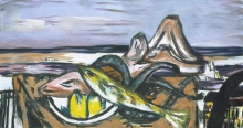 Max Beckmann, Paesaggio nel sud con frutti di mare   Landschaft im Süden mit frutti di mare
