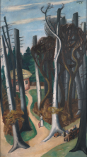 Max Beckmann, Paesaggio primaverile nel parco Louisa | Frühlingslandschaft im Park Louisa