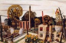 Max Beckmann, Paesaggio vicino Francoforte | Landscape near Frankfurt