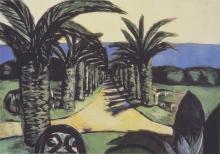 Max Beckmann, Paesaggio, Cannes | Die Landschaft, Cannes | Landscape, Cannes