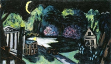 Max Beckmann, Parco di notte, Baden-Baden   Park bei Nacht, Baden-Baden   Park at night, Baden-Baden