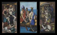 Max Beckmann, Partenza (Trittico)   Abfahrt (Triptychon)   Departure (Triptych)