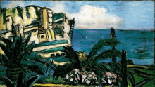 Max Beckmann, Pesaggio della Riviera con rocce   Riviera-Landschaft mit Felsen   Riviera landscape with rocks