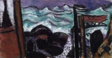 Max Beckmann, Piccolo mare in burrasca | Small stormy sea