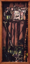 Max Beckmann, Piccolo paesaggio roccioso di Monte Carlo | Kleines Monte Carlo Felsenstadtbild