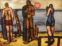 Max Beckmann, Piccolo quadro con bagnanti | Kleines Bild mit Badenden