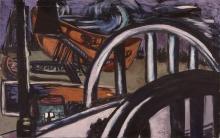 Max Beckmann, Ponte e molo | Brücke und Kai | Bridge and wharf