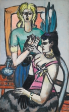 Max Beckmann, Prima del ballo (Due donne con gatto) | Vor dem Ball (Zwei Frauen mit Katze) | Before the ball (Two women with a cat)