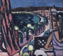 Max Beckmann, Promenade des Anglais a Nizza | Promenade des Anglais in Nizza | Promenade des Anglais in Nice