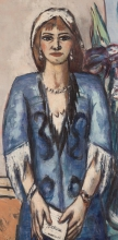 Max Beckmann, Quappi in blu e grigio | Quappi in Blau und Grau | Quappi in blue and grey [detail]