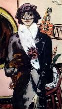 Max Beckmann, Quappi in pelliccia bianca   Quappi im weißen Fell   Quappi in white fur