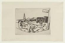Max Beckmann, Ragazza che dorme in un campo di mais | Schlafendes Mädchen im Kornfeld | Girl sleeping in the cornfield