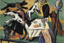 Max Beckmann, Ragazze che giocano con dei cani | Mädchen mit Hunden spielend | Girls playing with dogs