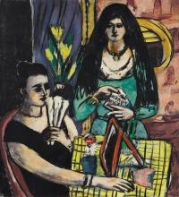 Max Beckmann, Ragazze in nero e verde (Due donne spagnole)