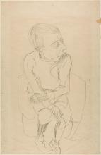 Max Beckmann, Ragazzo seduto   Seated boy