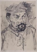 Max Beckmann, Ritratto a mezzo busto del soldato della riserva Ernst Pflanz | Landsturmmann Ernst Pflanz, Brustbild