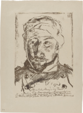 Max Beckmann, Ritratto del cognato ferito Martin Tube | Bildnis des verwundeten Schwagers Martin Tube