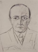 Max Beckmann, Ritratto del dottor Curt Glaser | Bildnis Doktor Curt Glaser