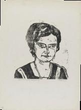 Max Beckmann, Ritratto della signora H. M. (Naila) | Bildnis Frau H. M. (Naïla)