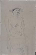 Max Beckmann, Ritratto della signora Swarzenski, figura seduta | Porträt Frau Swarzenski, Sitzfigur