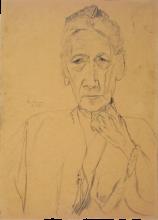 Max Beckmann, Ritratto della signora Tube, mezza figura di fronte | Bildnis Frau Tube, Halbfigur en face