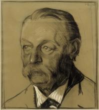Max Beckmann, Ritratto dello zio Friedrich Beckmann, mezzo profilo a sinistra