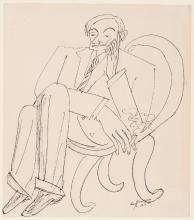 Max Beckmann, Ritratto di Friedrich Vordemberge-Gildewart | Porträt Friedrich Vordemberge-Gildewart | Portrait of Friedrich Vordemberge-Gildewart