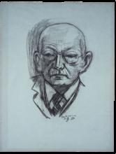 Max Beckmann, Ritratto di Georg Swarzenski | Bildnis Georg Swarzenski