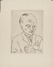 Max Beckmann, Ritratto di Georg Swarzenski | Bildnis Georg Swarzenski (1876-1957)