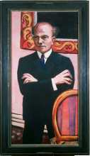 Max Beckmann, Ritratto di Gottlieb Friedrich Reber | Bildnis Gottlieb Friedrich Reber