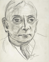 Max Beckmann, Ritratto di Ludwig Berger | Porträt Ludwig Berger