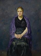 Max Beckmann, Ritratto di Mink con scialle viola | Portrait of Mink with violet shawl