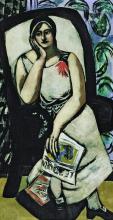 Max Beckmann, Ritratto di Minna Beckmann-Tube | Porträt Minna Beckmann-Tube | Porträt Minna Beckmann-Tube