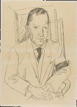 Max Beckmann, Ritratto di Reinhard Piper | Bildnis Reinhard Piper (1879-1953)