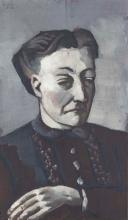 Max Beckmann, Ritratto di S. H.   Bildnis S. H.   Portrait of S. H.