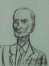 Max Beckmann, Ritratto di W. R. Valentiner