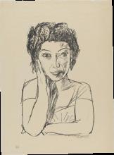 Max Beckmann, Ritratto di una rumena II (mezza figura) | Bildnis einer Rumänin II (Halbfigur)