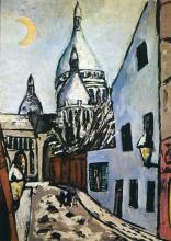 Max Beckmann, Sacré-Coeur sotto la neve | Sacré-Coeur im Schnee | Sacré-Coeur in the snow
