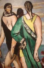 Max Beckmann, Scena balneare (Il mantello greco) | Bathing scene (The Greek cloak) detail]
