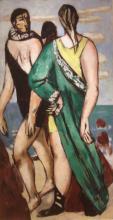Max Beckmann, Scena balneare (Il mantello greco) | Bathing scene (The Greek cloak)