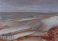 Max Beckmann, Marina con incipiente alta marea | Strandlandschaft bei beginnender Flut