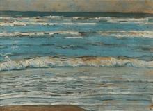 Max Beckmann, Scena di spiaggia con l'alta marea | Strandlandschaft bei Flut